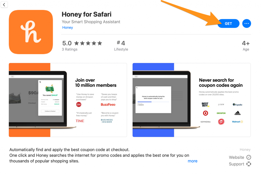 Honey App On Safari