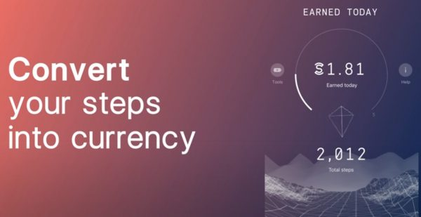 a banner that says convert your steps into currency