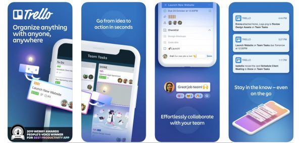Trello Time management apps